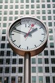 Canary Wharf Clock. London, Uk