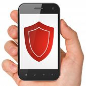 Safety concept: Shield on smartphone