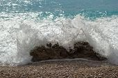Closeup Of A Sea Splash