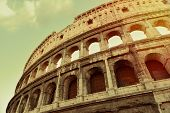 Aged Coliseum Rome