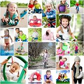 stock photo of physical education  - children are involved in sports - JPG