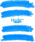 pic of rough-water  - Vector spot of paint drawn by blue felt pen - JPG