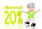 Graphic Of 20 Discount