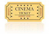 Cinema Ticket Vector Illustration