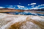 Indian Himalaya landscape with salt lake Tso Kar
