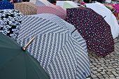 The Umbrellas In Street