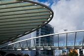 picture of gare  - A column and structure at Gare do oriente Train station in Lisbon Portugal - JPG