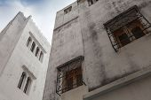 White Houses And Blue Sky. Madina, Old Part Of Tangier, Morocco