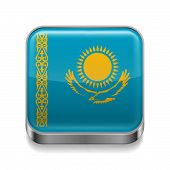 Metal  icon of Kazakhstan