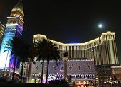 Venetian Casino Building In Macao At Night
