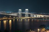 Sai Van Bridge At Night Macau