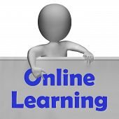 Online Learning Sign Means E-learning And Internet Courses