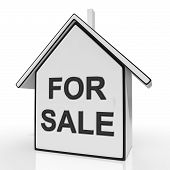 For Sale House Means Selling Or Auctioning Home