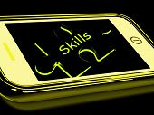 Skills Smartphone Means Knowledge Abilities And Competency