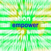 Empower Word Cloud Means Encourage Empowerment