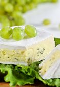 Cheese With Blue Mould And Grape