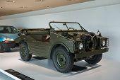 STUTTGART, GERMANY - CIRCA APRIL, 2014: Porsche Museum. PORSHE Typ 597 Jagdwagen (1956)