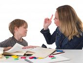 stock photo of disrespect  - young pupil doesn - JPG