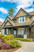 Luxury house at sunny day in Vancouver, Canada