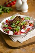 Lamb With Salad