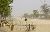 dust storm in Bor, South Sudan