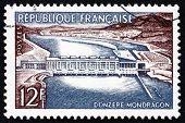 Postage Stamp France 1956 Donzere-mondragon Dam