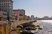 A view of the of the Malecon sea boulevard