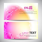 Vector banner template with colorful planet effect