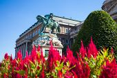 The Statue Of Prince Eugene Of Savoy In Front Of Buda Castle