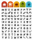 stock photo of lunch  - Food Icons bulk series  - JPG