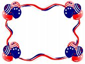 july fourth balloons streamer