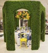 The Secret Garden theme flower decoration during famous Macy s Annual Flower Show