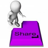 Share Key Means Posting Or Recommending On Web