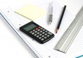 Notepad Calculator Pen Pencil Ruler