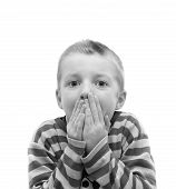Boy Covering His Mouth