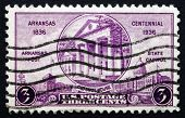 Postage Stamp Usa 1936 Centennial Of Arkansas Statehood