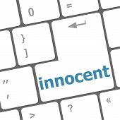Innocent Word On Computer Pc Keyboard Key