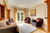Living Room Area With Door To Backyard