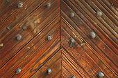 Interesting Pattern On Wood Door