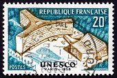 Postage Stamp France 1958 Unesco Building, Paris