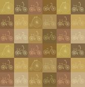 seamless background with bicycles