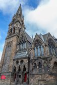 Vintage facade of St John's Tolbooth Church in Edinburgh