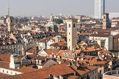 View from above of Turin, Italy