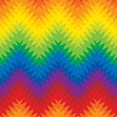 Blurry Rainbow Zigzag