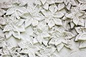 The White Stucco , Thai Style On The Wall