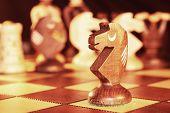 Chess . Shakhmatnaya figure horse
