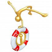 Gold Guy With Lifebuoy Information