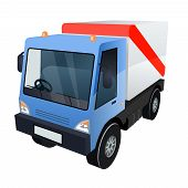 Vector Graphic of Cargo Truck on White Background