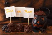 Sweets Trick Or Treat For Halloween Spider Web