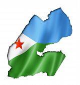 Djibouti Flag Map
